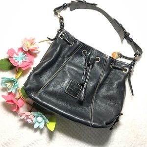 Dooney & Bourke Vintage all leather bucket purse